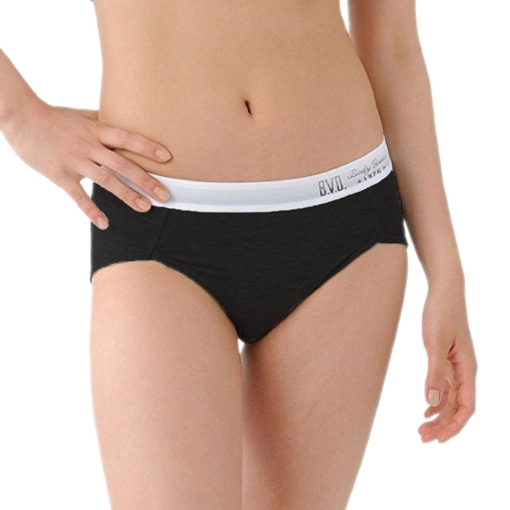 BVD Ladies  COTTON BASIC系列 開高衩三角內褲(黑色)