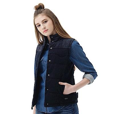 Lee 羽絨背心70/30-女款-藍黑色