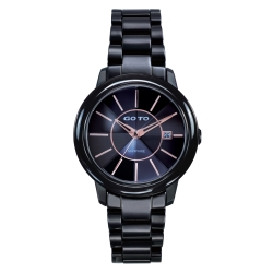 GOTO 潮流未來陶瓷腕錶-黑/38mm
