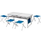 【ATUNAS 歐都納】XYT-073 折疊式桌椅套組 A-DC1503 寶藍