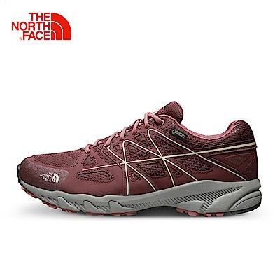 The North Face北面女款紅色防水透氣防滑徒步鞋