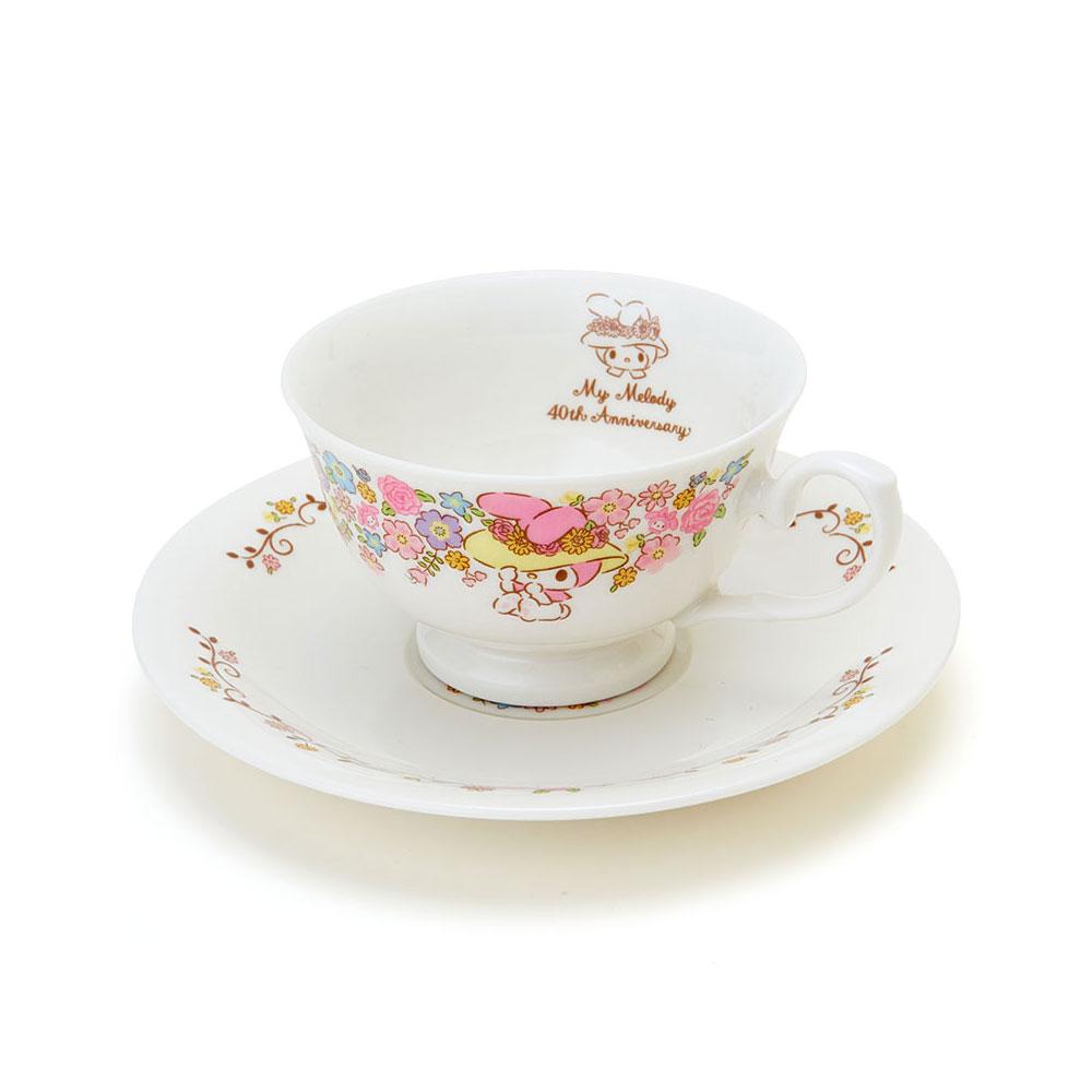 Sanrio美樂蒂40周年紀念陶磁咖啡杯盤組花帽