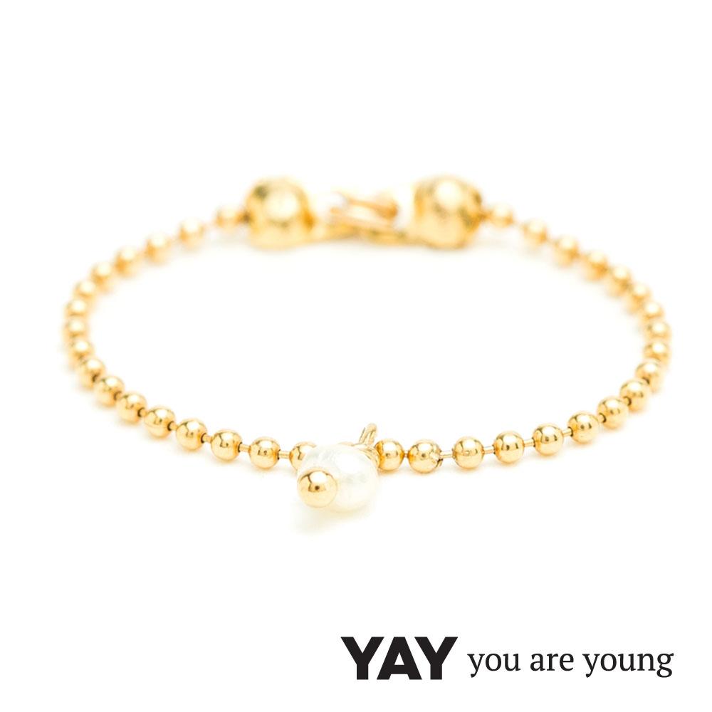 YAY You Are Young 法國品牌 Frida 寶石花束戒指 鍊戒款 白珍珠