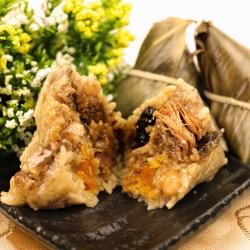 陳媽媽-養生中藥素干貝肉粽6顆+台南傳統鮮肉粽6顆
