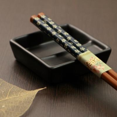 JoyLife 彩繪碳化竹筷 10 雙組-( 2 色)