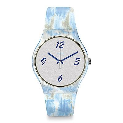 Swatch 情迷地中海  BLUQUARELLE 藍色水彩手錶