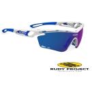 【Rudy Project】TRALYX 專業防爆變色運動眼鏡_亮白藍框+藍色多層膜鏡片