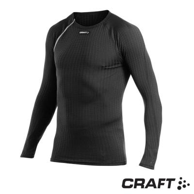 【瑞典 Craft】男款 Zero Extreme 男長袖圓領排汗衣_黑/白