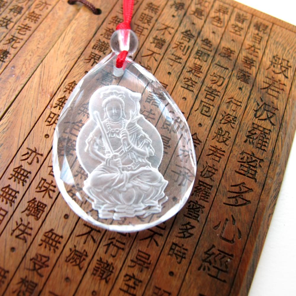 Hera白水晶兔年守護神-文殊菩薩項鍊