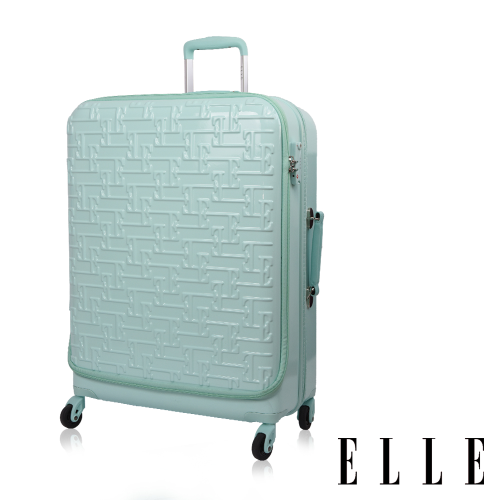 ELLE 26吋馬卡龍 專利前開式旅行/商務兩用行李箱-蒂芬妮綠