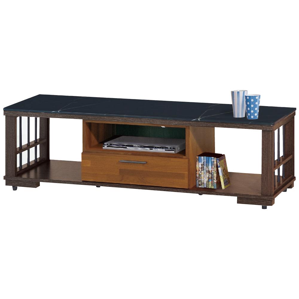 品家居 歐蘭朵5尺木紋雙色石面長櫃/電視櫃-151x41x44.5cm-免組
