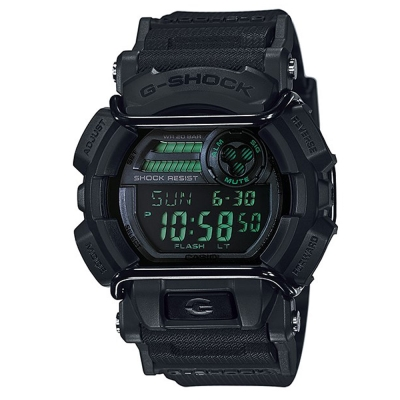 G-SHOCK堅毅配備防撞裝置運動休閒錶(GD-400MB-1)-霧面黑X綠/52mm
