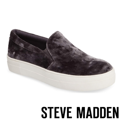 STEVE MADDEN-GEMA 厚底懶人鞋-灰色