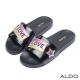 ALDO-原色美式LOVE熨燙厚底懶人鞋-尊爵黑色
