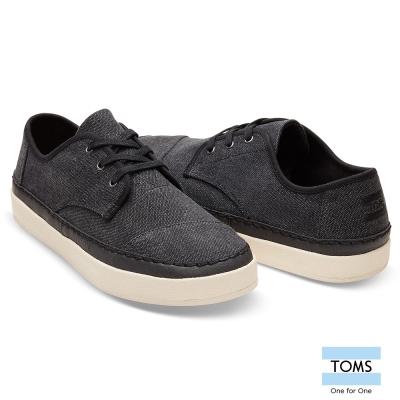 TOMS 帆布混皮革休閒鞋-男款
