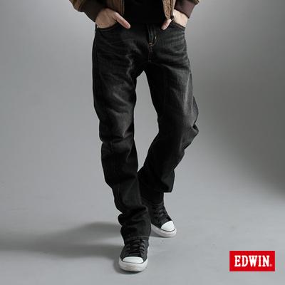 EDWIN-大尺碼-XV-3D立體中直筒牛仔褲-男款-灰色