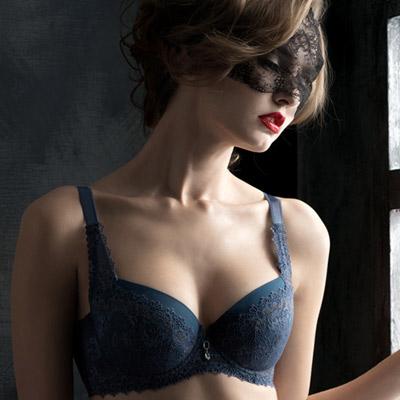 LADY  寵愛美人系列  D~G罩內衣 (藍色)