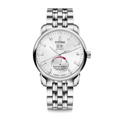 TITONI瑞士梅花錶 大師系列(94688 S-578)-銀/41mm
