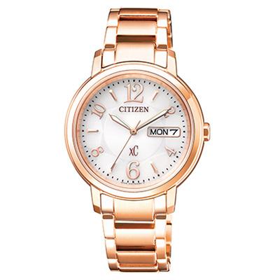 CITIZEN xC 童趣萬花筒時尚腕錶(EW2422-55A)-白x玫瑰金/33mm