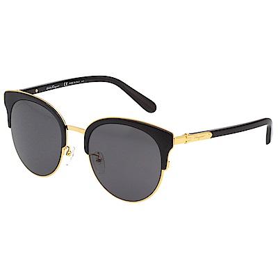 Salvatore Ferragamo 太陽眼鏡(黑配金)SF175SK