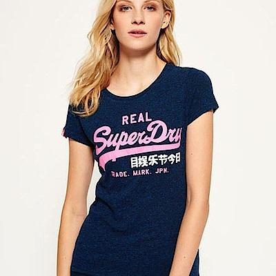 SUPERDRY 極度乾燥 女 T恤 藍色 0719