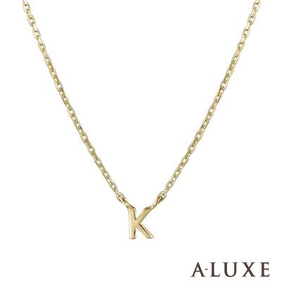 A-LUXE 亞立詩 Alphabet系列 10K項鍊-K