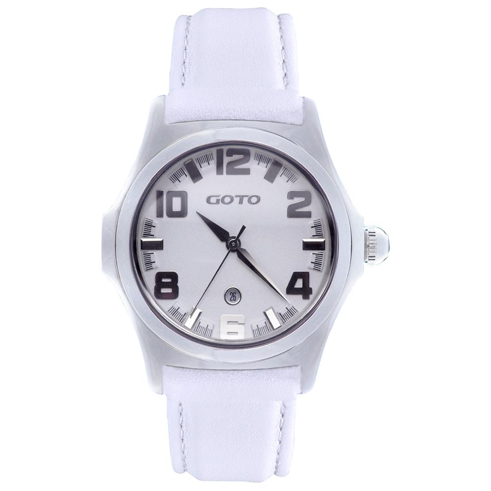 GOTO Classic系列腕錶-白/38.5mm