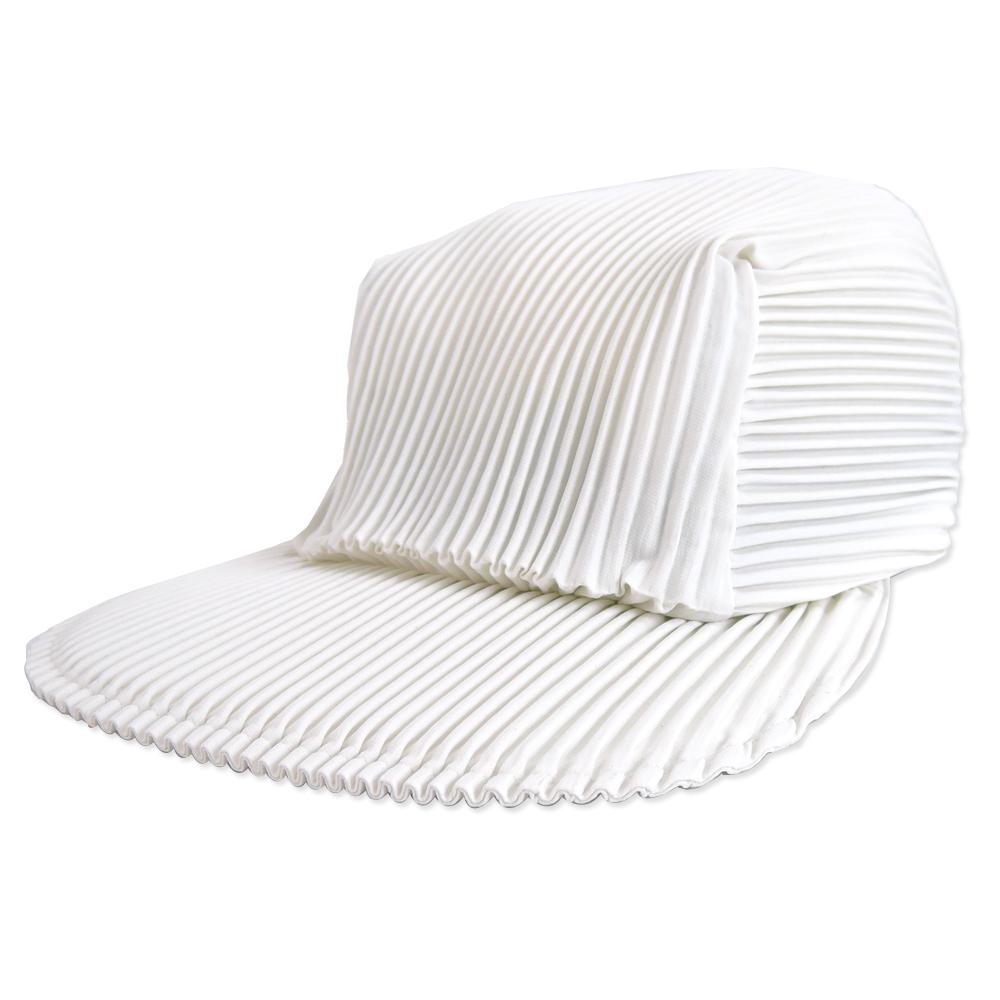 ISSEY MIYAKE 三宅一生PLEATS PLEASE褶紋鴨舌帽(白) @ Y!購物