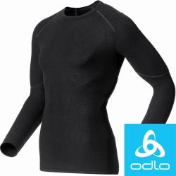 瑞士【Odlo】155162 男加強保暖型圓領排汗衣(黑)