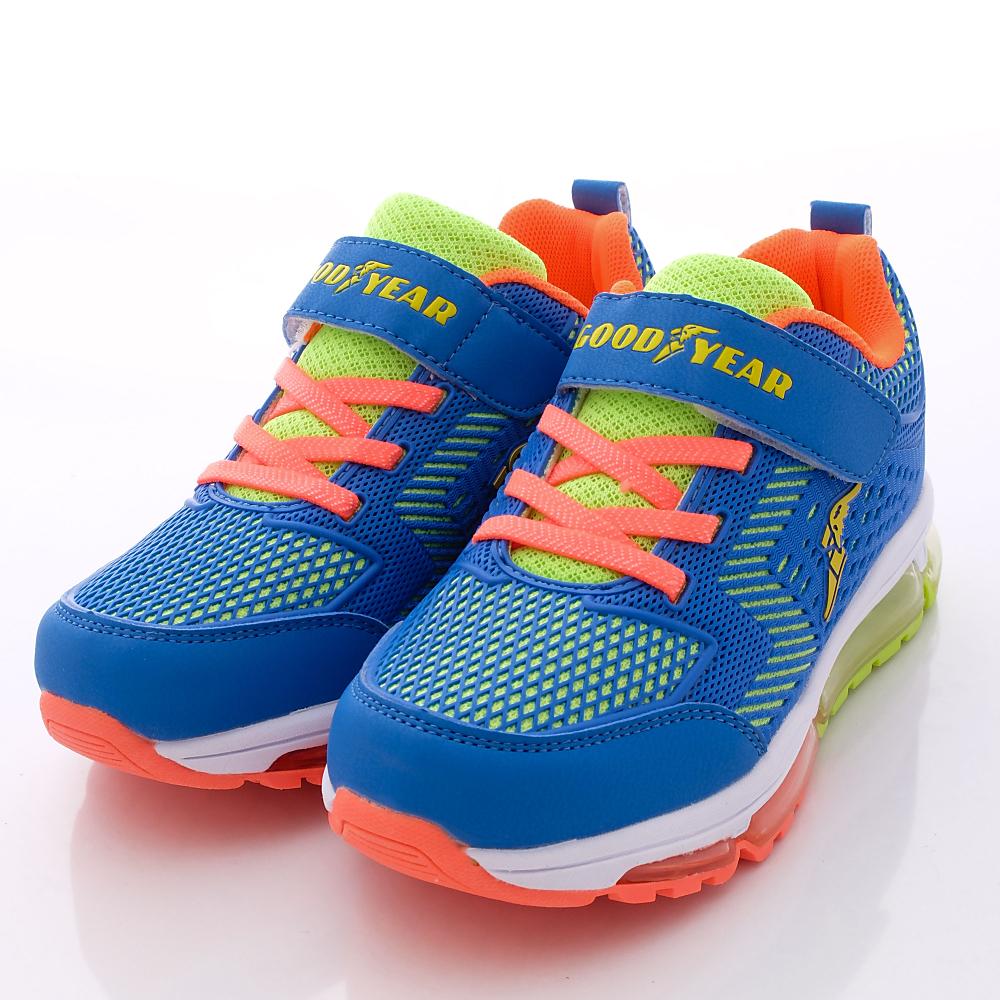 GOODYEAR戶外童鞋-全氣墊彈力款-R58666藍綠(大童段)HN
