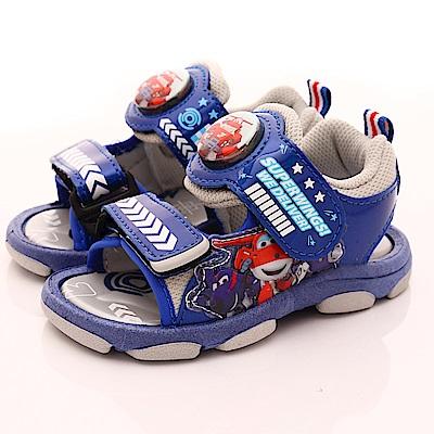 SUPER WINGS LED電燈涼鞋款 EI3812灰(中小童段)