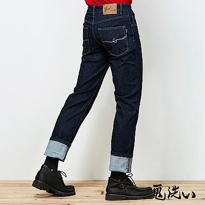 鬼洗 BLUE WAY 四面彈系列-360度頂級彈力直筒牛仔褲-原生藍