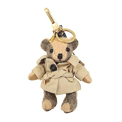 BURBERRY 風衣造型 Thomas 泰迪熊鑰匙圈(駝色)