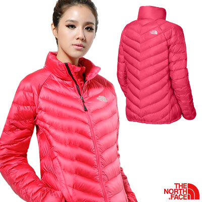 THE NORTH FACE THUNDER 女 800FILL 羽絨外套 粉桃紅