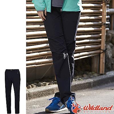 Wildland 荒野 0A61387-54黑色 女四彈耐磨透氣三季褲