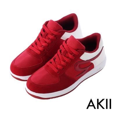 AKII韓國空運 運動時尚內增高6公分AIR休閒鞋 6CM 酒紅