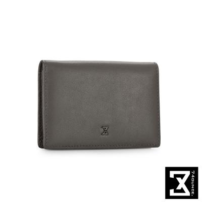 74盎司  Plain 系列平紋真皮名片夾[N-468]灰