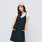 Hang Ten - 女裝 - 細肩口袋洋裝-深藍色