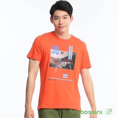 bossini男裝-印花短袖T恤59橘