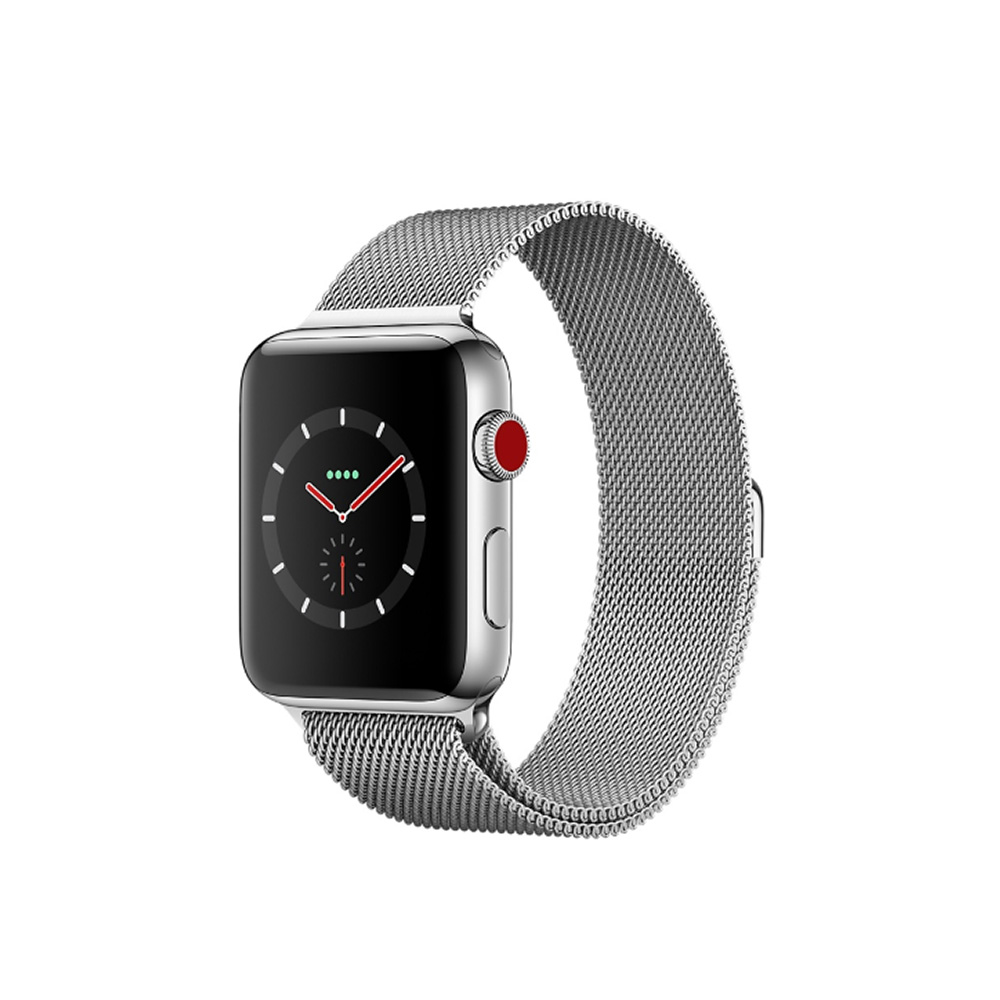 Apple Watch Series 3 GPS+Cellular 42mm不鏽鋼米蘭錶環