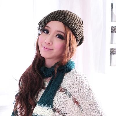 Aimee Toff 金亮點綴圓風可愛造型毛帽(綠)