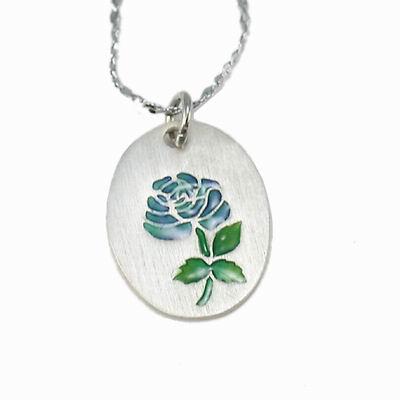 iSFairytale伊飾童話 925純銀 玫瑰琺瑯銀幣項鍊-共4色