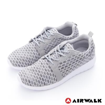 美國 AIRWALK蜂巢式休閒慢跑鞋運動鞋-男款(灰)
