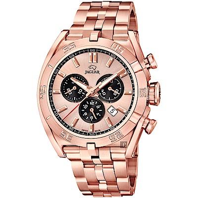 JAGUAR積架 EXECUTIVE 計時手錶-玫塊金/45.8mm
