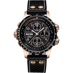 Hamilton KHAKI AVIATION 碳纖維元素機械腕錶-黑/44mm