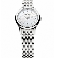 Maurice Lacroix 典雅系列 耀眼情人真鑽腕錶-銀x白貝/28mm