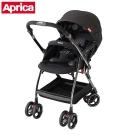 【Aprica】 四輪自動定位導向型嬰幼兒手推車 Optia新視野 酷點黑
