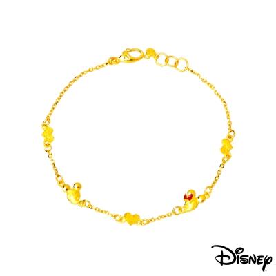 Disney迪士尼金飾 相戀黃金手鍊