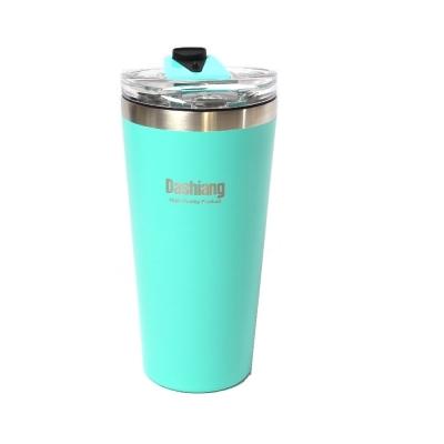保溫杯不鏽鋼真空雙層汽車保溫杯(附杯蓋)480ML-蒂芬妮藍 (8H)