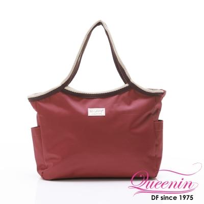 DF Queenin - 韓版百搭輕便式多用途手提包-酒紅